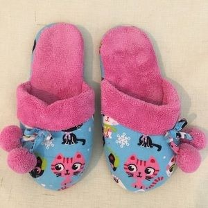 VICTORIAS SECRET House shoes Slippers Cat Small